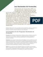 Los Programas Nacionales de Formación