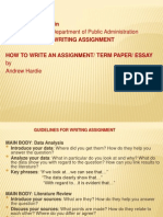 How to Write Assignment