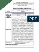 Formato Diseño Curricular TITULADA DILIGENCIADO