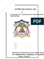 Advanced Microprocessor Lab Manual