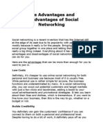The Advantages and Disadvantages of Social Networking