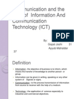 Communication and the Role of ICT