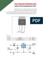 Rangkaian Regulator 5VDC Menggunakan IC 7805