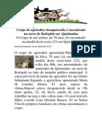 Corpo de agricultor desaparecido é encontrado na serra de Bodopitá em  Queimadas