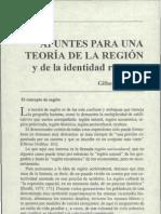 Apuntes Para Una Teoria de La Region