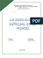 La Educacion Especial en El Mundo