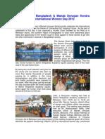 Report on celebrating international women day 2012
