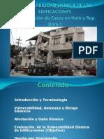 VULNERABILIDAD SISMICA DE LAS EDIFICACIONES (Presentación de Casos en Haití y Rep. Dom.)