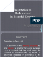 Bailment & Its Essential Elements