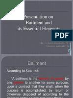 Bailment & Its Essential Elements