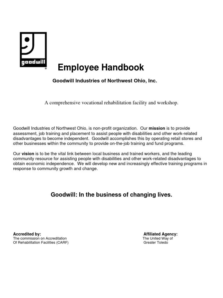 Handbook Goodwill Board Of Directors Employment