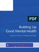 Building Up Good Mental Health