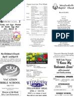 March 25 Bulletin