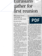 Eurasians gather for first reunion - The Straits Times 22 March 2012