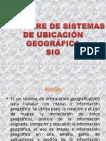 SOFTWARE DE SISTEMAS DE UBICACIÓN GEOGRÁFICA
