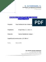 Memoria descriptiva de cálculo estructural