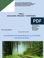 Tema 1.Evaluación, procesos, cotenido