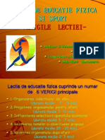 0lectia de Educatie Fizica Si Sport Verigile Lectiei