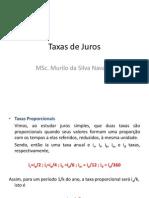 Taxas de Juros e Trabalho Para AV1