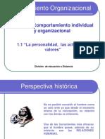 La Personal Id Ad Las Actitudes y Los Valores