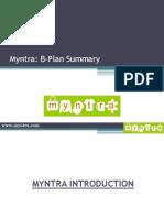 14.2 Myntra.com - B-Plan Summary