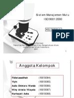 Sistem Manajemen Mutu ISO 9001:2000