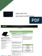 Aspire AOD270 Net