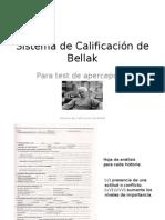 Sistema de Calificacion de Bellak
