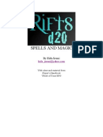 d20 - Rifts - Spells and Magic