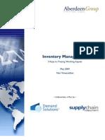 Inventory Management - Nari Viswanathan - Aberdeen Group
