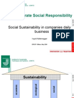 Social Sustainability in Companies Daily Business - Ingrid Kaltenegger