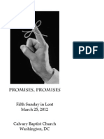 Bulletin for March 25, 2012