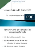 Estructuras de Concreto - Tema 4 - Cortante