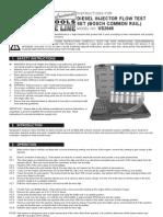 Diesel Injector Flow Test
