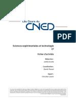 Sciences expérimentales et technologie CP