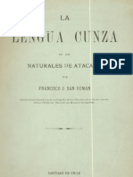 La Lengua Cunza de Los Naturales de Atacama. 1890