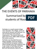 Parihaka Summary Power Point Presentation