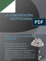 La comunicación institucional