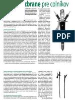 Chladné zbrane pre colníkov (Colné aktuality č. 1-2/2012)