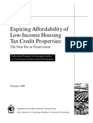 Low Income Housing Tax Credit 1999 | Affordable Housing