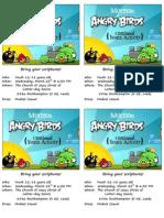 Angry Bird's Activity - Flyer - Invitations