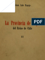 La Provincia de Cuyo Del Reino de Chile. T.ii. 1954