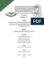 Procesos Administrativos Gadm Pichincha