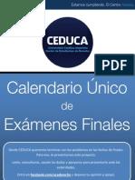 Calendario Único de Exámenes Finales