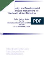 Children and the Law Presentation, Prato, Italy, 2009