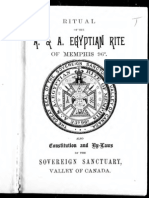 Ritual of the a and a Egyptian Rite of Memphis