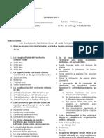 Evaluacion Fase 0 7° basico A  2012 Forma B