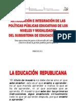 Conrado Romero Niveles y Modalidades Publicas