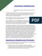 Definicion Concepciones Admin is Trac Ion Estrategica