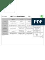 photosynthesis prac assessment